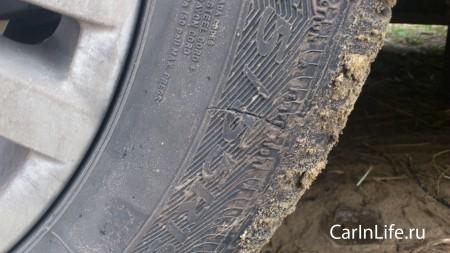 передняя покрышка боковой порез