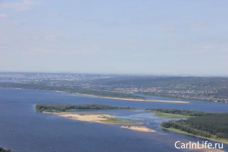 река Волга на горе Стрельная